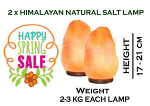 Natural Himalayan Pink Rock Salt lamp Cable & Bulb Included Best Gift 2-3 KG