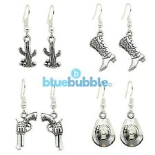 Bluebubble COUNTRY COWBOY Earrings Funky Wild West Music Festival Fancy Dress UK