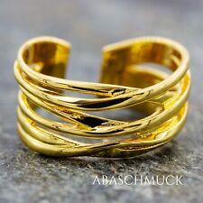 Silberring Silber 925 Ring  Verstellbar  vergoldet Offen R0772🦁