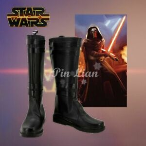 Star Wars The Force Awakens Kylo Ren Ben Solo Boots Shoes Cosplay Costume:W