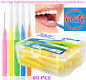 60X Interdental Brushes Clean Tooth Floss Head Hygiene Dental Oral Teeth GY