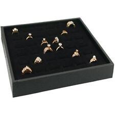 Wood Jewelry Display Case Box 36 Ring Velvet Insert