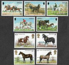 Horses-2 sets Great Britain/Jersey mnh
