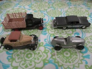 Toy cars & truck, 5 pcs 4 inches approx 1:43, Ertl, Tootsietoy, Kinsmart 1:36, ?