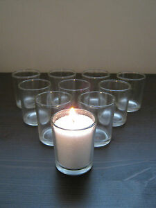 Beautiful Clear Glass Tea Light Votive Candle Holders Wedding Xmas Gift Display