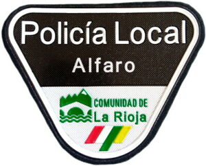 Policía Local Alfaro Police Dept parche insignia emblema texflex EB01623
