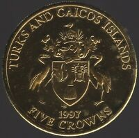 1997 Turks & Caicos Island Five Crowns | World Coins | Pennies2Pounds