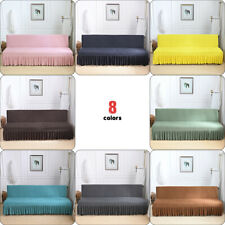 Futon Slipcover Armless Lace Sofa Cover Stretch Bed Protector Elastic Room NEW