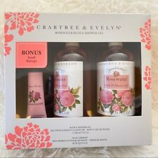 Crabtree and Evelyn Rosewater Bath and Shower Gel Bonus Hand Lotion Cream Set