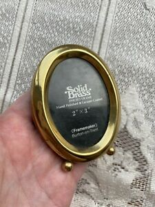 Vintage Original Miniature Brass Frame