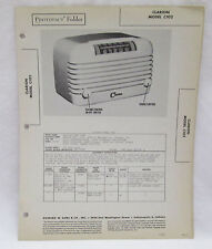 Vintage Photofact Folder Clarion Model C102 Radio Parts Manual
