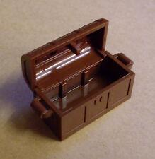 Lego Schatztruhe rotbraun ( Behälter Stadt City Town Treasure Chest ) Neu