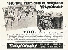 W2700 Cento anni di fotografia Voigtlaender - VITO - Pubblicità del 1940 - Ad
