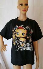 Rare Vintage 90s 1996 Betty Boop Biker Black Shirt Tultex King Features Large