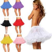 2 Layer Tulle Short Mini Tulle Skirt UnderSkirt Slips Crinoline Petticoat Dress