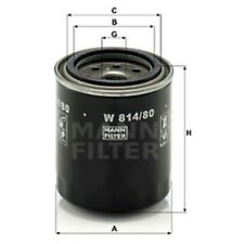 Mann W814/80 Oil Filter Spin On 92mm Height 82mm Outer Diameter Service