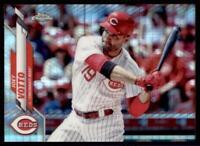 2020 Topps Chrome Base Prizm Refractor #9 Joey Votto - Cincinnati Reds
