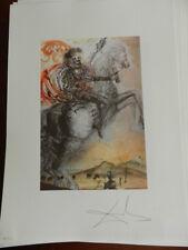 Salvador Dali Litografía 50X70 Dalart NV sello retro HOME GALA/Dali EDICIÓN