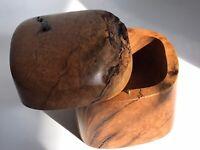 1.9lbs VTG Modernist Signed Doug Muscanell Maple Burl Wood Handmade Trinket Box