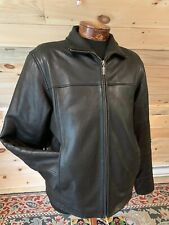 Classic Calvin Klein BLACK Glove Leather Jacket Men's size M