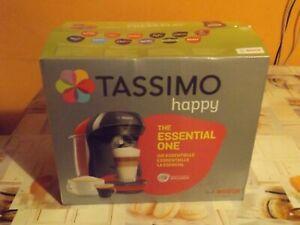 Bosch TASSIMO HAPPY 1,4 kW Machine à Café à Capsule , Noire,Rouge (TAS1003) Neuf