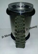 Paracord Handle for 20 oz Yeti, Rtic, Sic Cup, Ozark Trail, Olive Drab Green