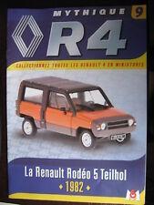 FASCICULE 9 RENAULT R4  4L RODEO TEILHOL 1982