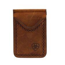 Ariat Dark Brown Bifold Money Clip Wallet
