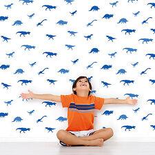 Blue Dinosauri modello Autoadesivo Adesivi Murali Bambini Camera Vivaio Decorazioni