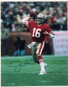 Joe Montana Signed 49ers 8 x 10 Photo COA Autographed San Francisco Signed