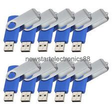 Lot 10 2G USB Flash Drive 2GB Thumb Memory Pen Key Stick Bulk Wholesale Blue 03