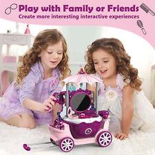 Kinder Kosmetik Spielzeug Koffer Mädchen Make-Up Schminkset Rollenspiel Geschenk