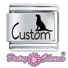 Custom Made SITTING DOG  - Daisy Charm Fits Nomination Italian Charm Bracelet