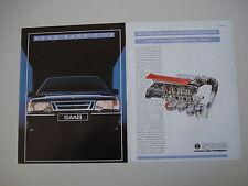 advertising Pubblicità 1989 SAAB 9000 TURBO T 16