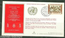 VATICAN CITY POPE PAUL VI MESSAGE TO UN  SPECIAL CANCEL COVER  AS SHOWN