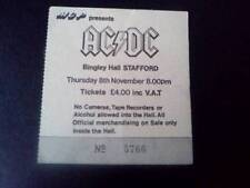AC/DC Bon Scott ticket Bingley Hall Stafford 08/11/79  Highway to Hell tour
