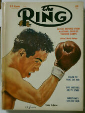 THE RING VINTAGE BOXING MAGAZINE RARE 1954 JUNE PADDY DE MARCO