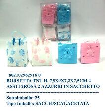 Coppia bomboniera borsetta portaconfetti in tnt in 4 assortimenti