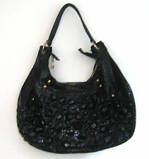Butler and Wilson Faux Snakeskin Faceted Bead Bag NEW