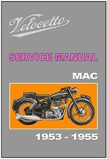 VELOCETTE Workshop Manual MAC 1953 1954 and 1955 Maintenance Service and Repair