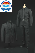 1/6 Scale Black Color Business Suit Agent Clothes For Hot Toys Male Figure ❶USA❶
