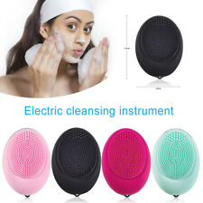 Electric Silicone Facial Cleansing Brush Face Cleaner Clean Skin Care Massage
