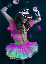 80's Neon Rainbow Multi-Coloured Tutu Skirt
