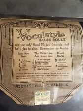 THREE O'CLOCK IN THE MORNING Vocaltone Player Piano Word Song Roll