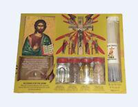 Home Blessing Kit Bottles Jesus Cross  33 Candles From Holy Land Jerusalem Stone