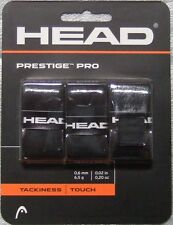NEW Head Prestige Pro Tennis Overgrip Black 3 Pack Over grip