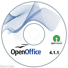 OPEN OFFICE 4.1.1 SOFTWARE - WINDOWS EDITION 8, 7, 10, VISTA, XP | SHIPS TODAY!