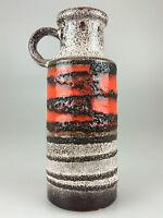 70er Jahre Vase Tischvase Blumenvase Keramik Keramikvase Rot Weiß Space Age