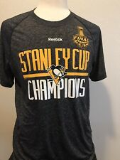 Mens Large Reebok Pittsburgh Penguins Stanley Cup Champions 2016 shirt