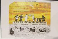 TAAF French Antarctic 2018  Bird Penguin Music Julien Gautheir  Miniature sheet